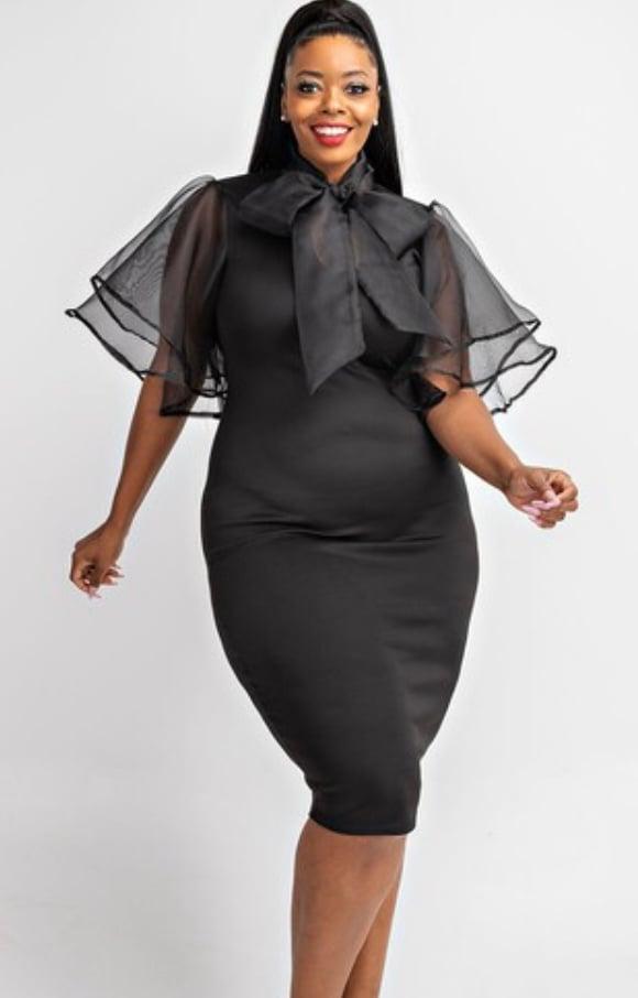 Image of Show me fierce black dress