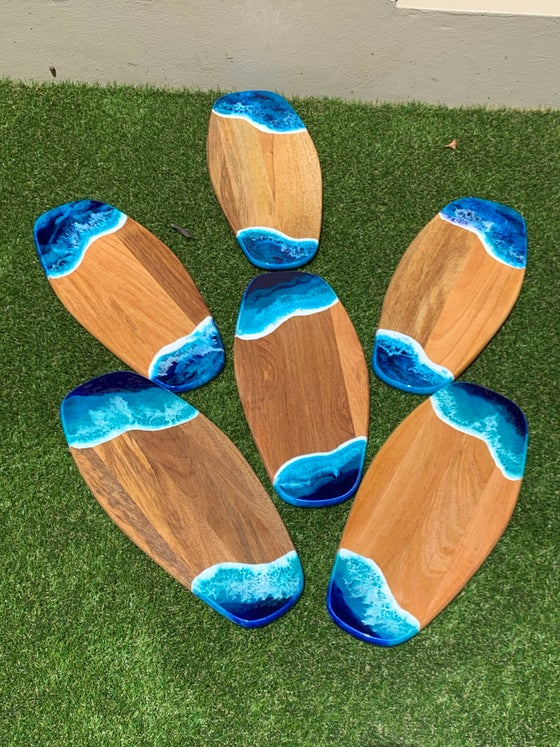Image of Surfboard Shaped Serving Boards