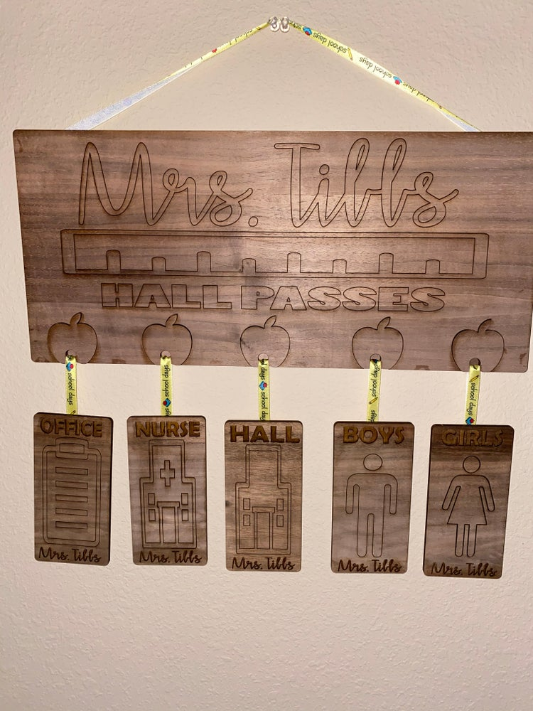 Image of Teacher Hall Pass Laser Design