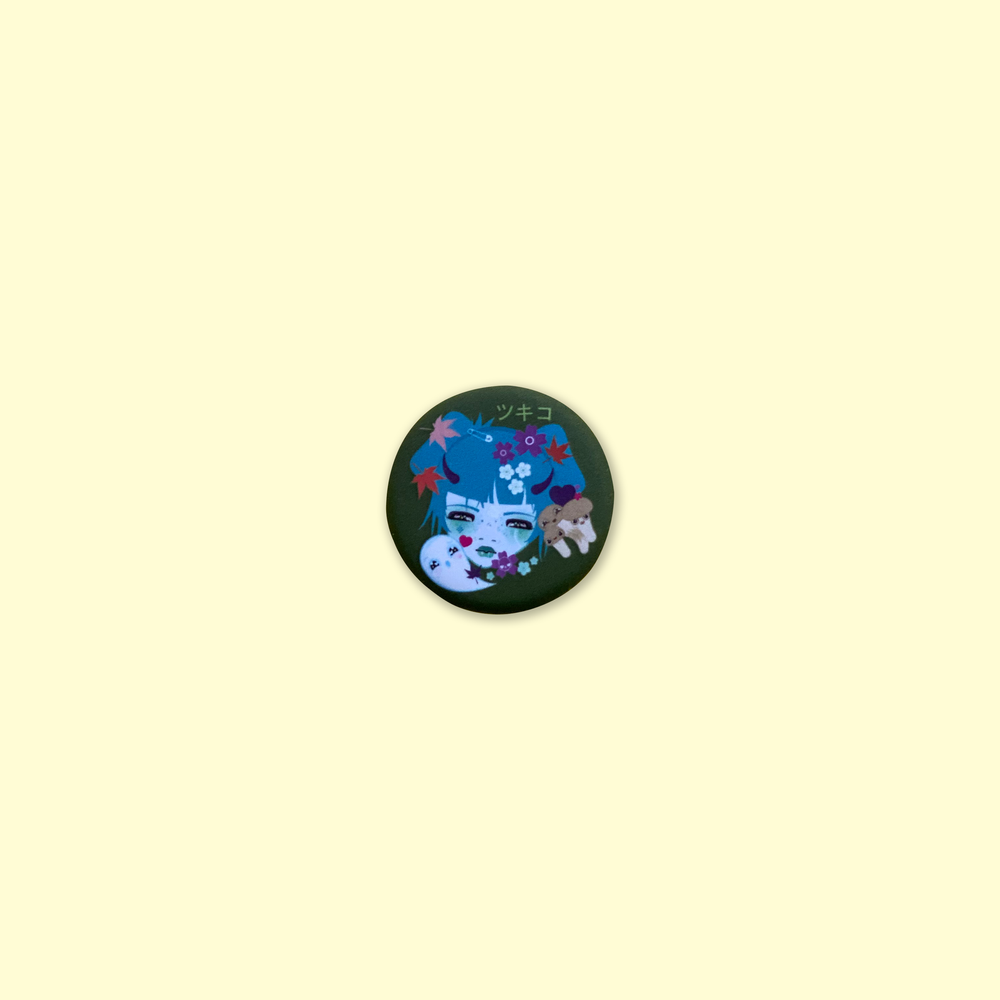 Image of Tsukiko Pin-back Button