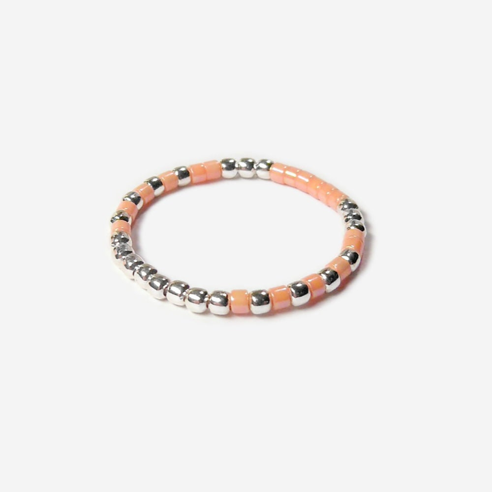 Image of SOLDES - BAGUE NATIVE ROSE SHELL - TAILLE 46