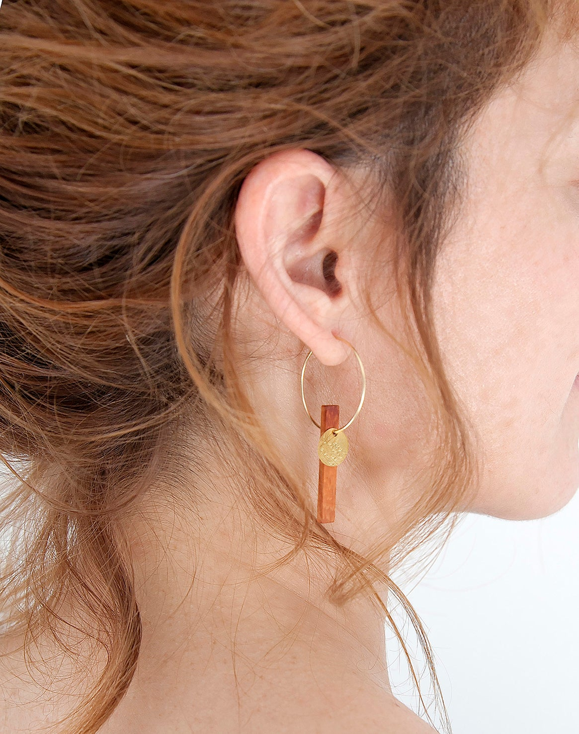 Image of EARRINGS. Gold_Palo Rosa. -20% DISCOUNT