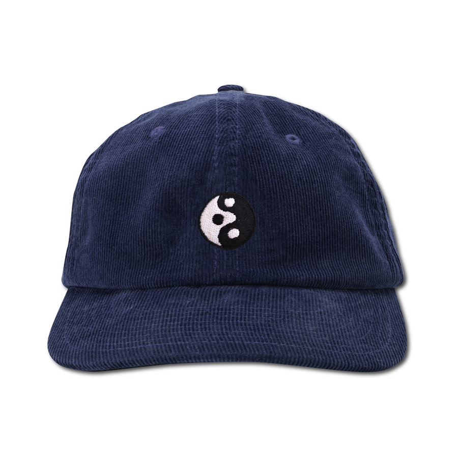 "Image of TAKEGOODCARE™ ""YINYANGISH"" CORD CAP NAVY"