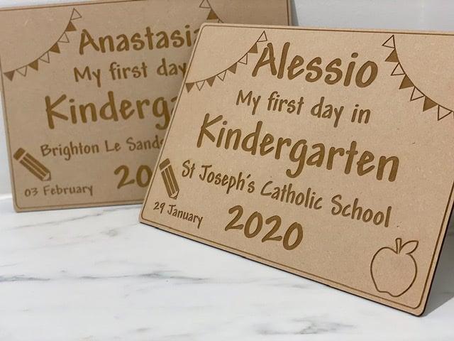Image of Wooden milestone board