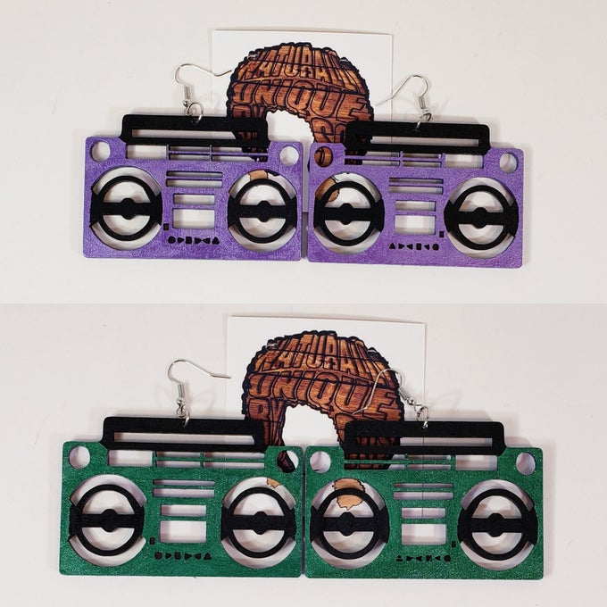 Image of Boom Box Earrings