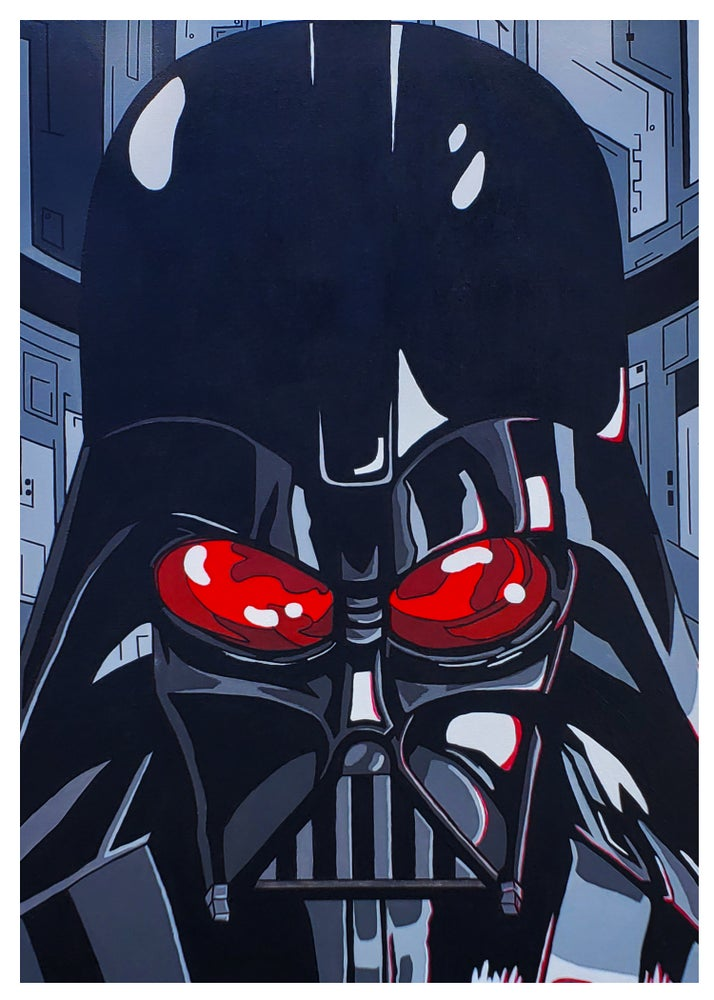 Image of 5x7 Print- Darth Vader Head Shot