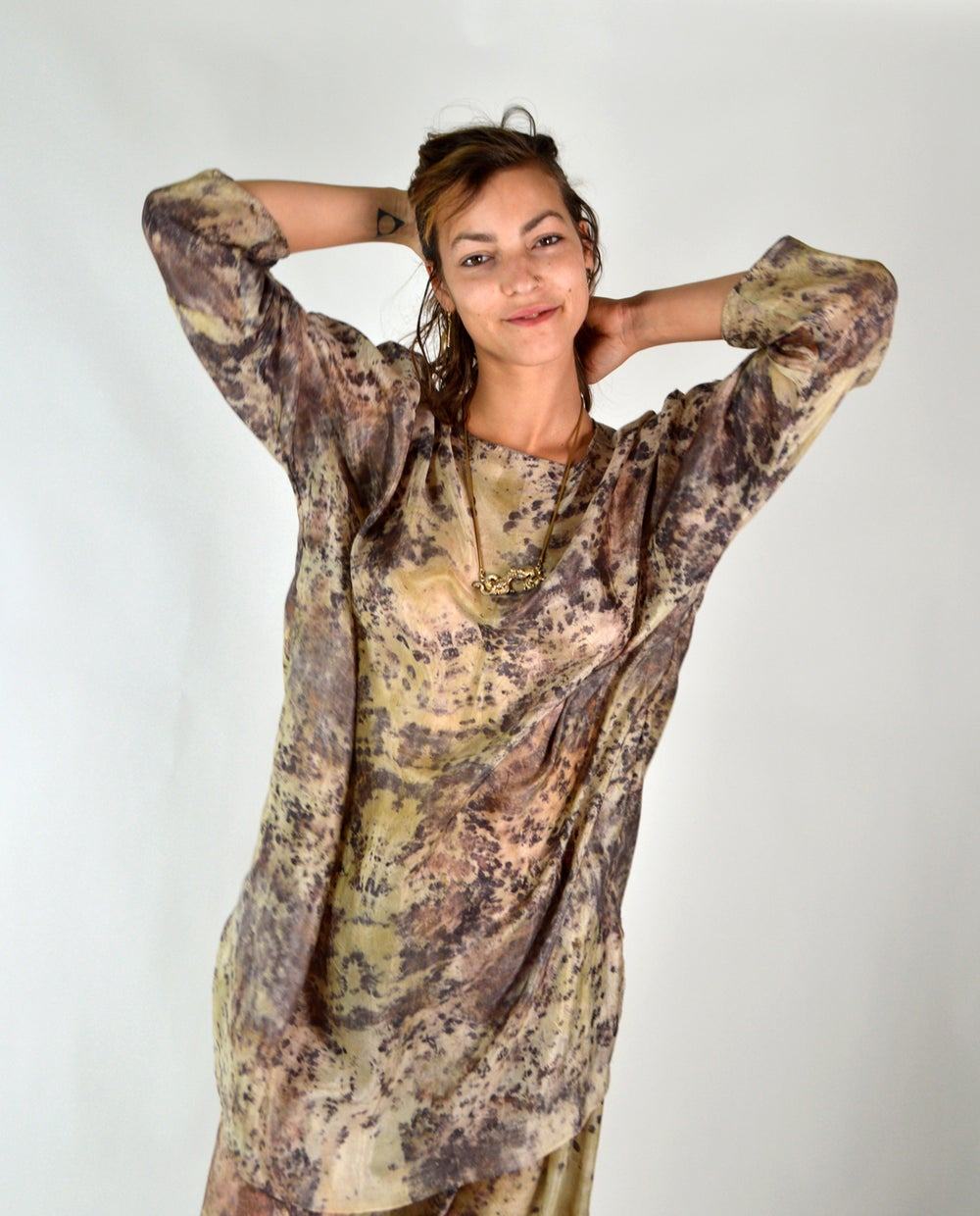 Image of feather weight sumac tunic