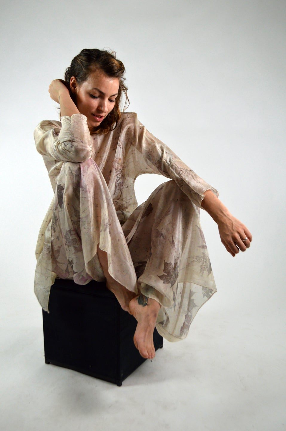 Image of Feather weight silk tunic