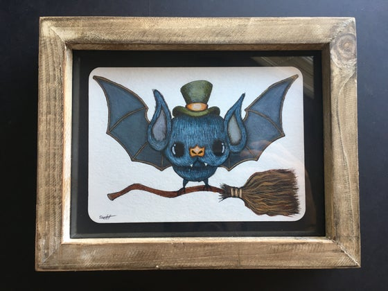 "Image of ""Bat with Witch broom"" original"