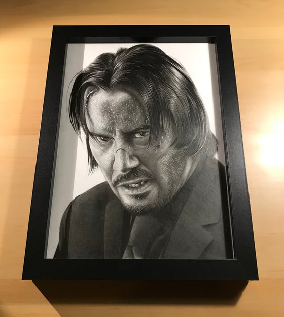 Image of John Wick Original Drawing (Framed)