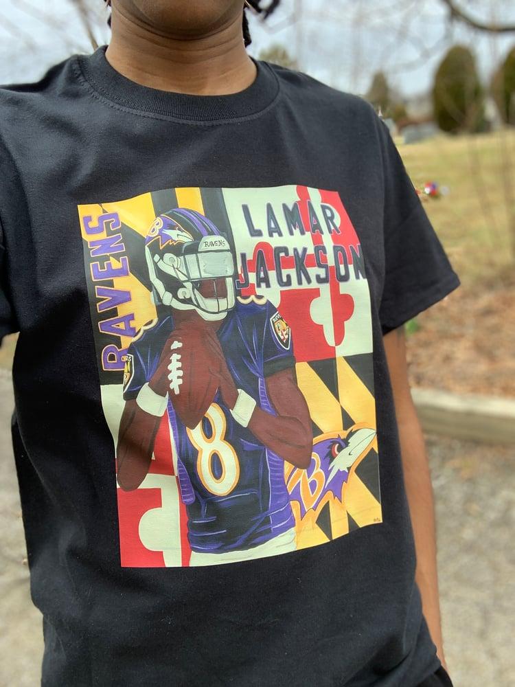 Image of Lamar Jackson T-Shirts