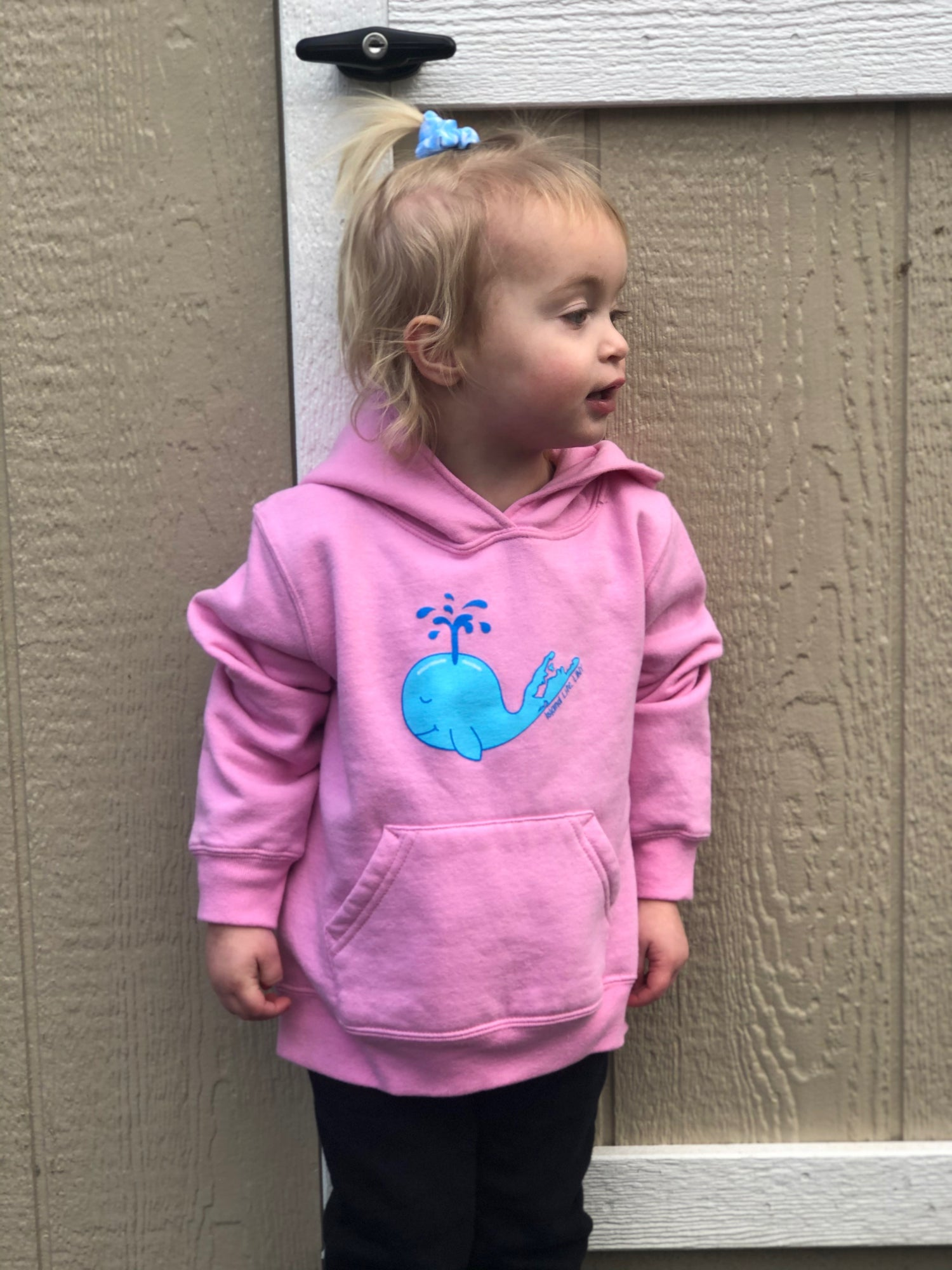 """Image of """"Monty"""" the Whale Fleece Toddler Hoody - Candy Pink"""