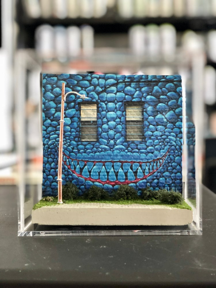 Image of Peek-A-Blue Mini Mural