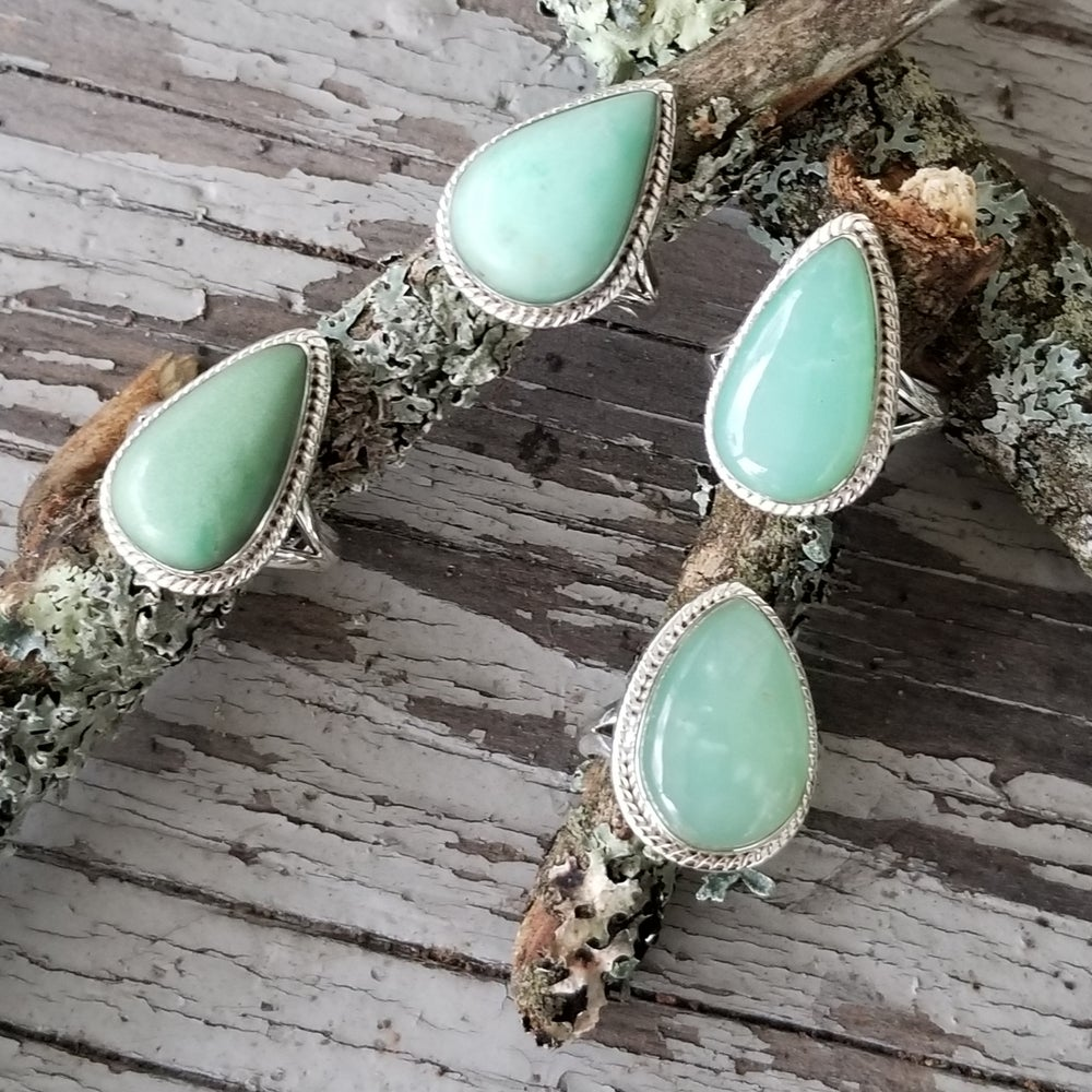 Image of Ameli Rings - Chrysoprase in Sterling