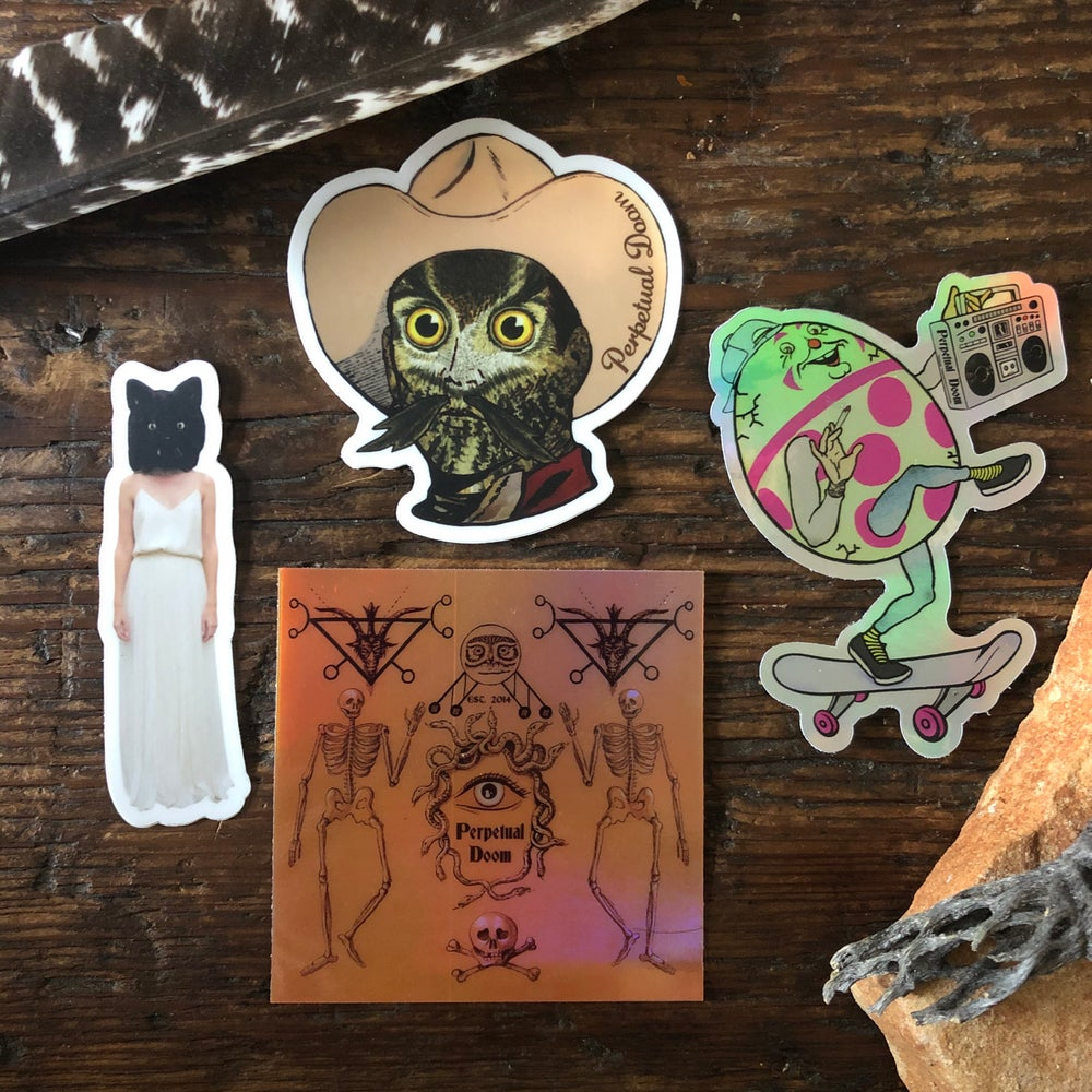 Image of 2020 STICKER PACK 💀🐍🦉🥚🛹😾
