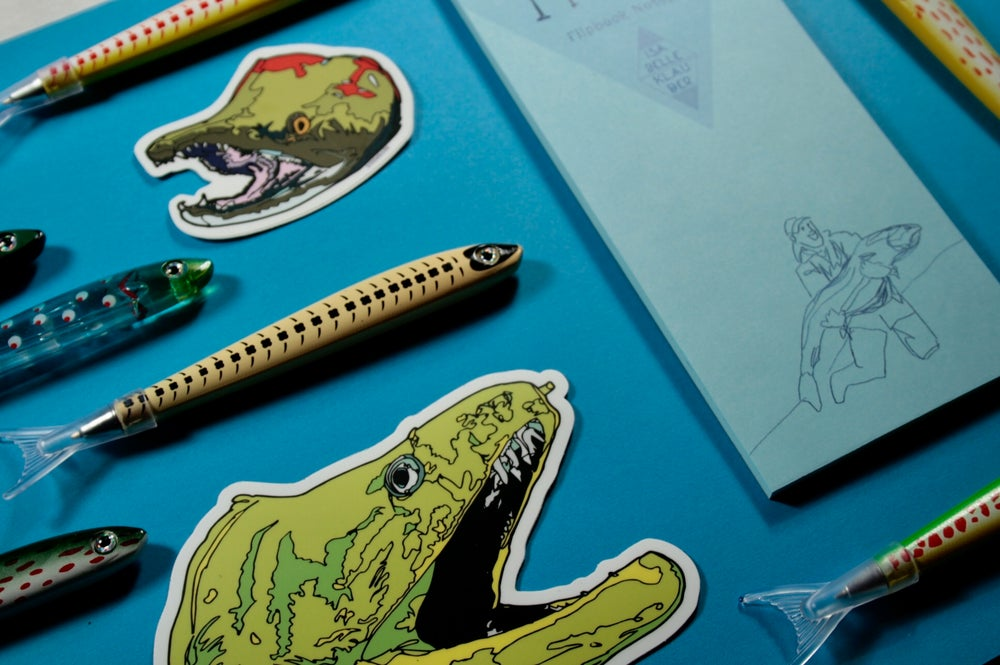 Image of Trophy Trout Flipbook Notebook