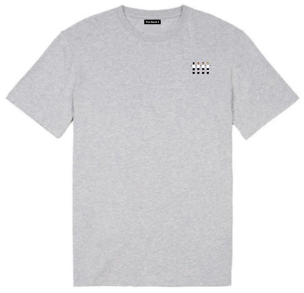 Kids Embroidered Club Crew Tees - Grey