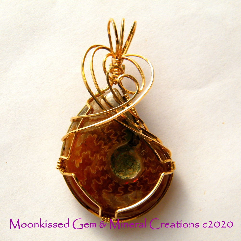 Image of Whole Ammonite 14 kt Gold Fill Pendant