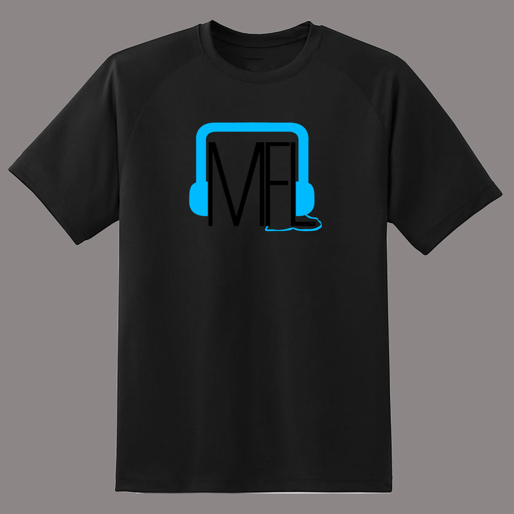 Image of MFL Logo T-Shirt [Black w/ Blue]
