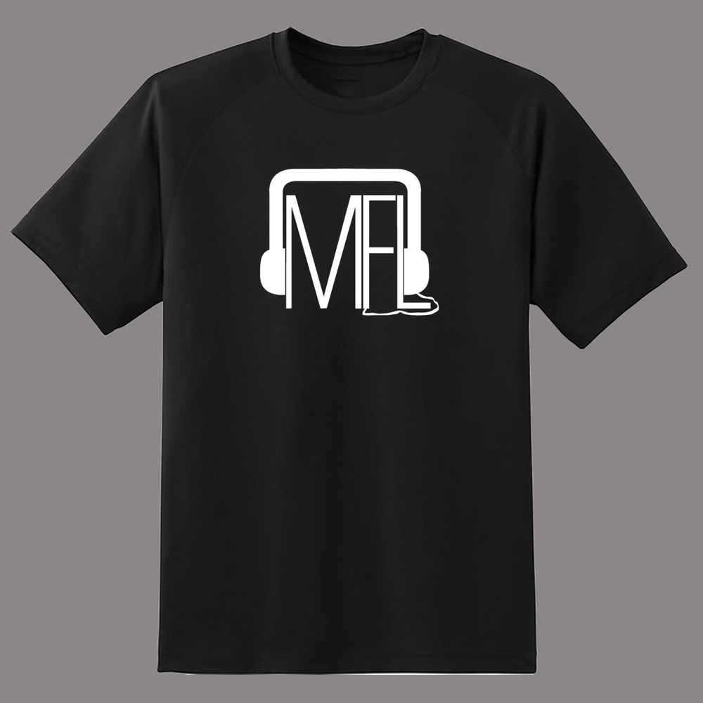 Image of MFL Logo T-Shirt [White on Black]