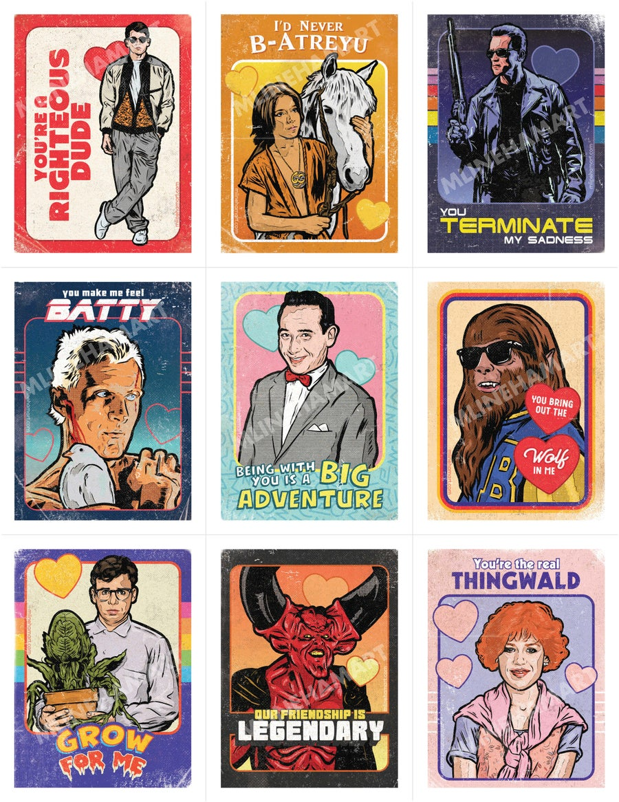 Image of Classic 80s Movies Valentine's Day Card Pack (2020)