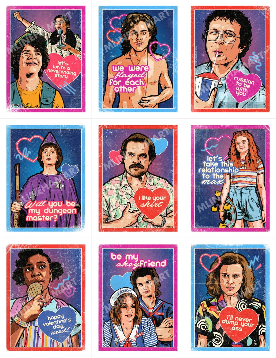 Image of Stranger Things 3 Valentine's Day Card Pack (2020)