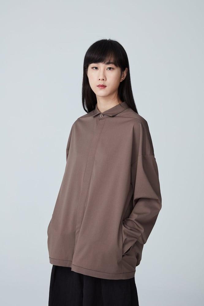 Image of TRAN - 簡約微寬夾克 (卡其)