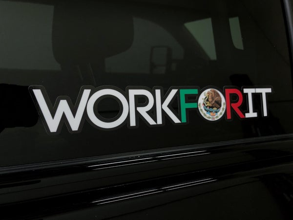 Image of MEXICAN FLAG WORKFORIT DECAL
