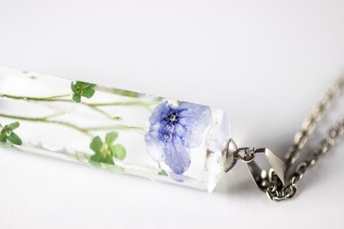 Image of Chinese Forget-Me-Not (Cynoglossum amabile) - Large Crystalline Pendant #1