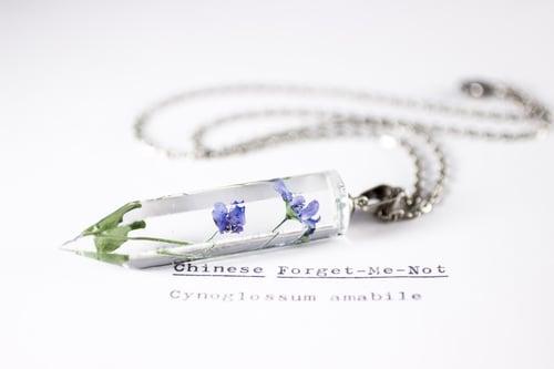 Image of Chinese Forget-Me-Not (Cynoglossum amabile) - Medium Crystalline Pendant #2