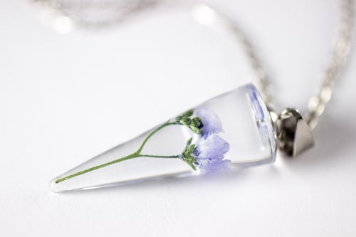 Image of Chinese Forget-Me-Not (Cynoglossum amabile) - Conical Pendant #1