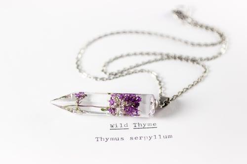 Image of Wild Thyme (Thymus serpyllum) - Medium Crystalline Pendant #4