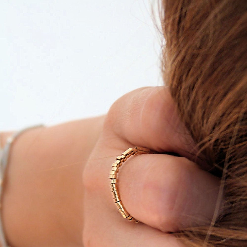 """Image of SOLDES - BAGUE OR GOLD FILLED """"PISE"""" - TAILLES 52/ 54"""
