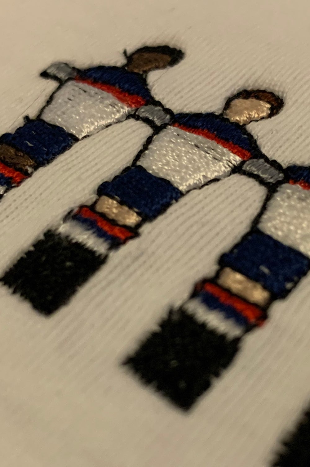 Embroidered International Crew Tees - White
