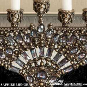 Image of Bliss Swarovski Crystal Menorah Saphire