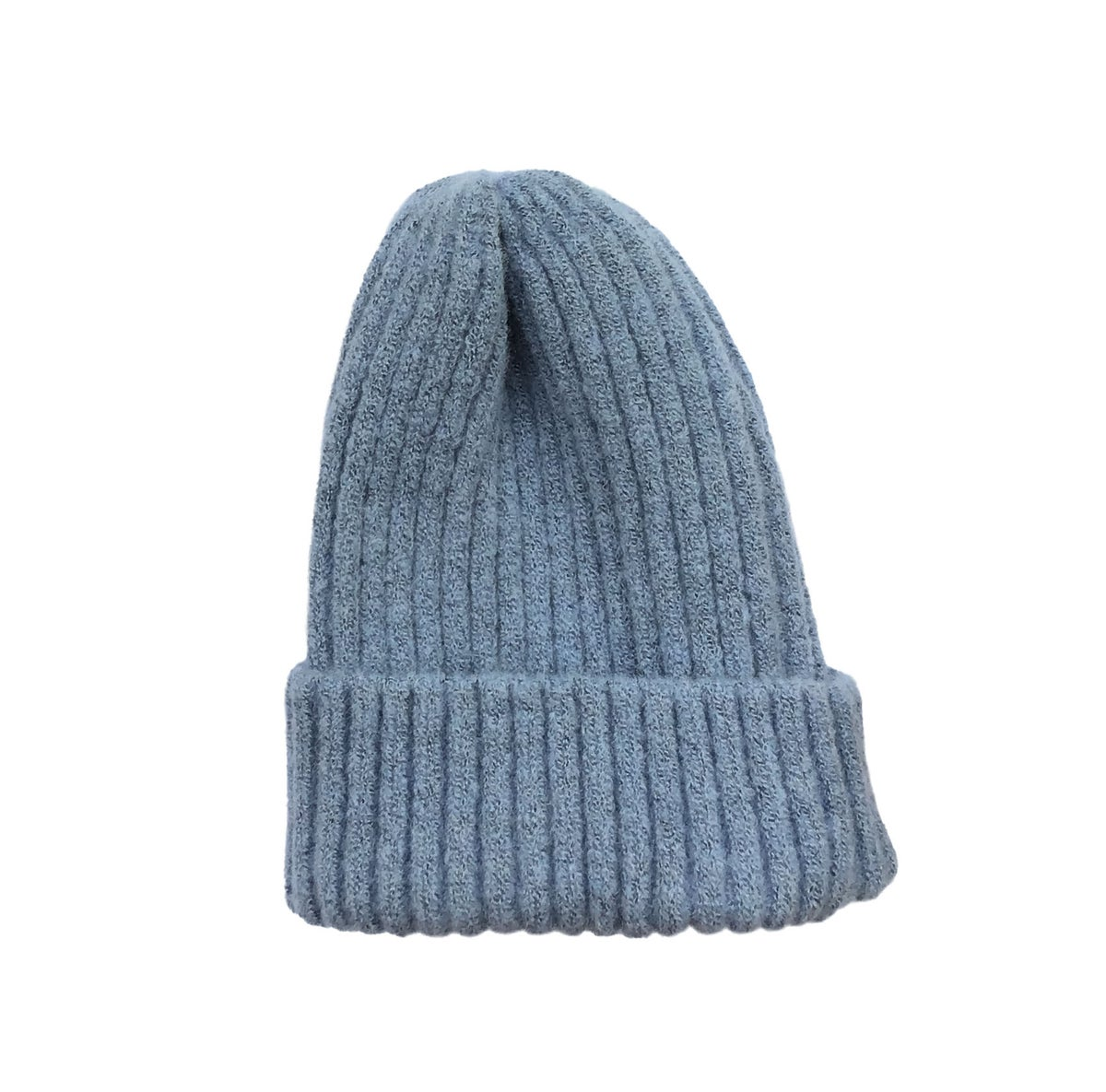 Image of Soft fisherman's style beanie/ watch cap. Sky Blue.