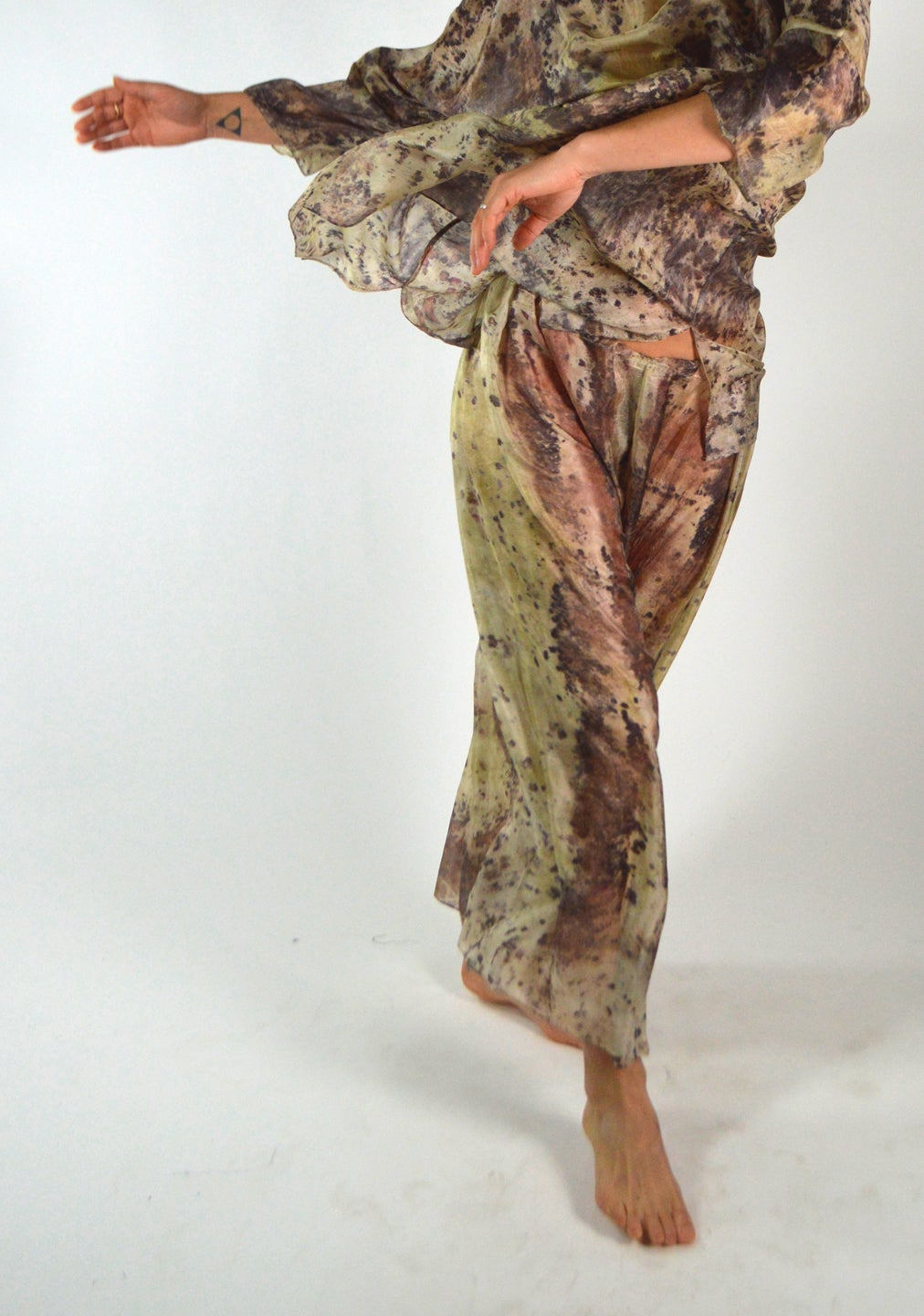 Image of Feather Weight dance silk Pants