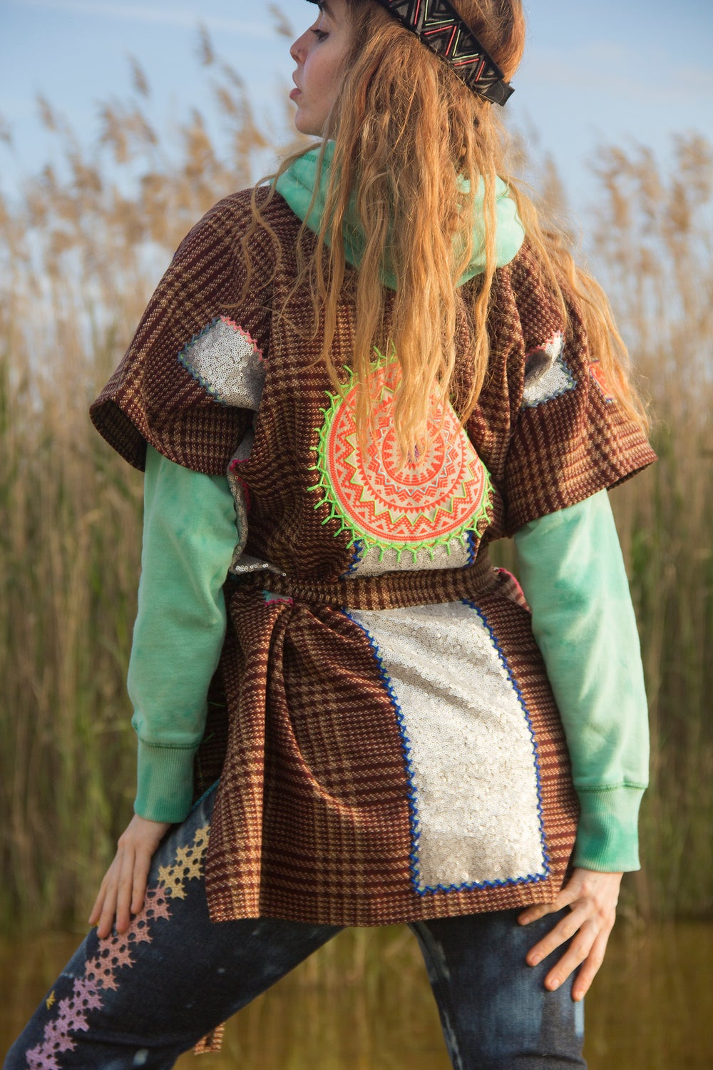 Image of Cosmic Scottish Poncho