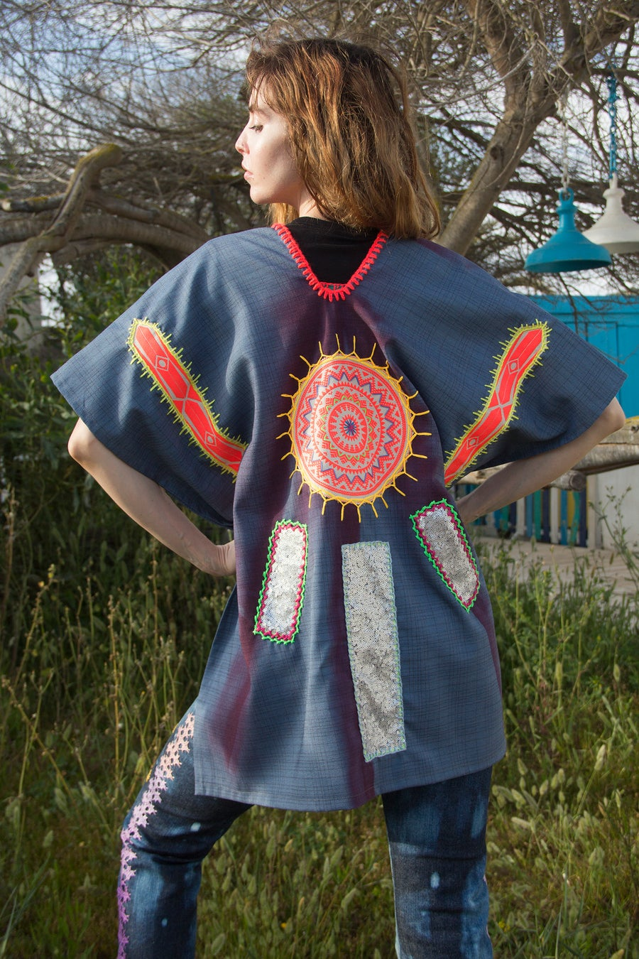Image of Blue Power Poncho