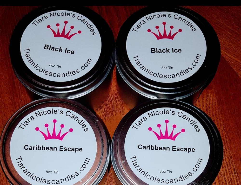 Image of 8oz Tin Candles-READY TO SHIP