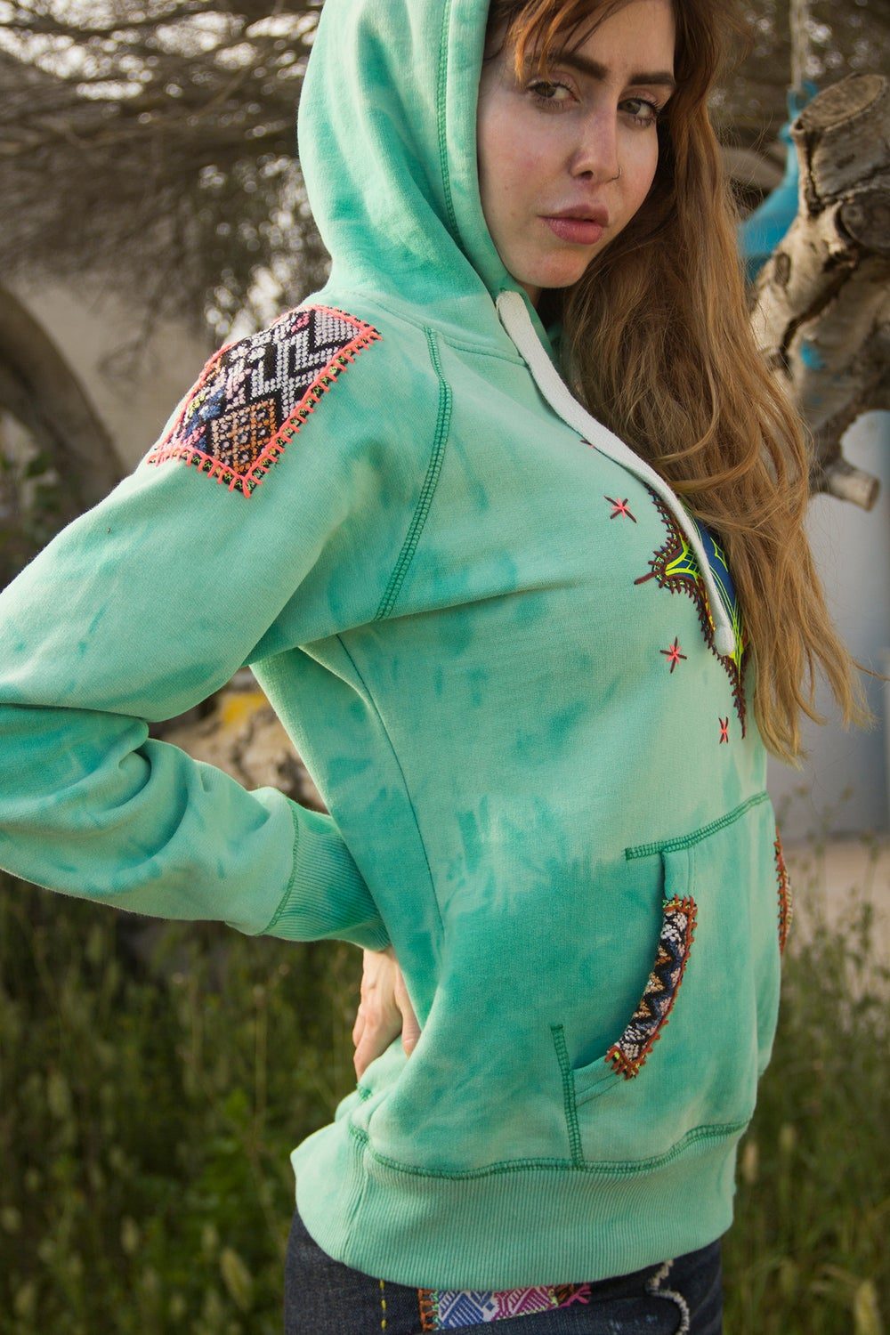 Image of Tribal Green Hoodie
