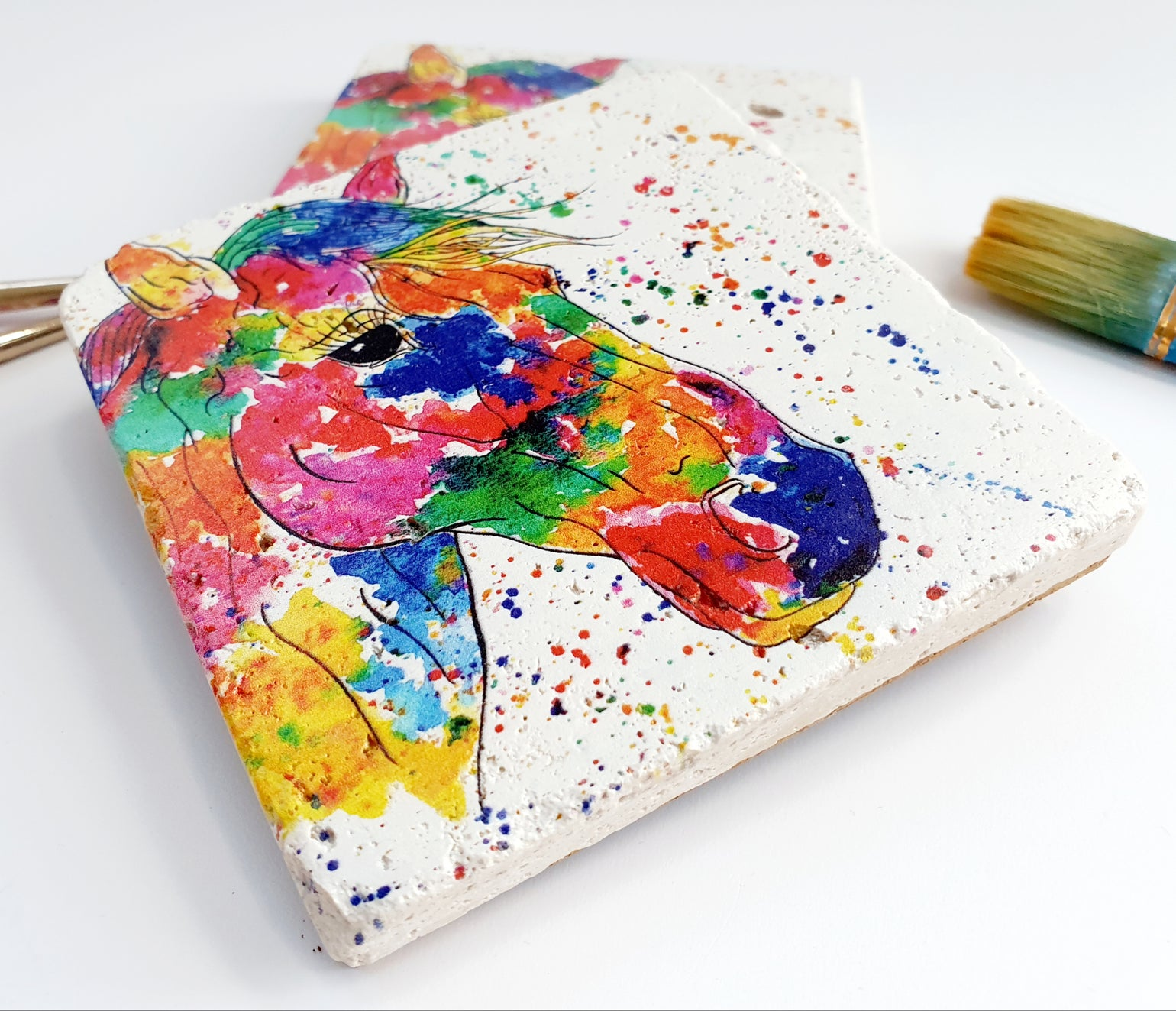 Image of 'Rainbow Horse' Stone Coaster