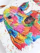 Image 2 of 'Rainbow Cow' Stone Coaster