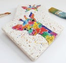 Image 1 of 'Rainbow Giraffe' Stone Coaster