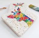 Image 1 of 'Rainbow Giraffe' Stone Coaster