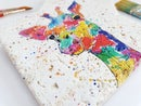 Image 2 of 'Rainbow Giraffe' Stone Coaster