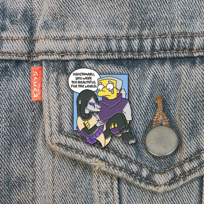 Image of Orochimaru, Too Beautiful Pin