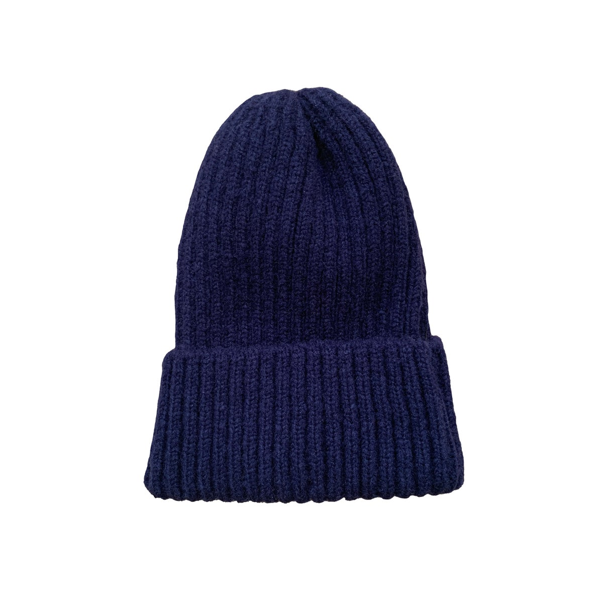 Image of Soft fisherman's style beanie/ watch cap. Navy.