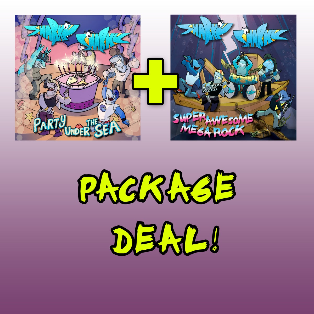 Image of SUPER AWESOME MEGA ROCK + Party Under the Sea PACKAGE DEAL!