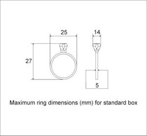 Image of Square rotating ring display box, secret proposal box - ready to ship